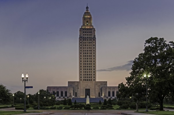 Capitol Dawn 1-Edit_Louisiana capitol_credit Perry Sims, Architect, SFP LA office of state buildings