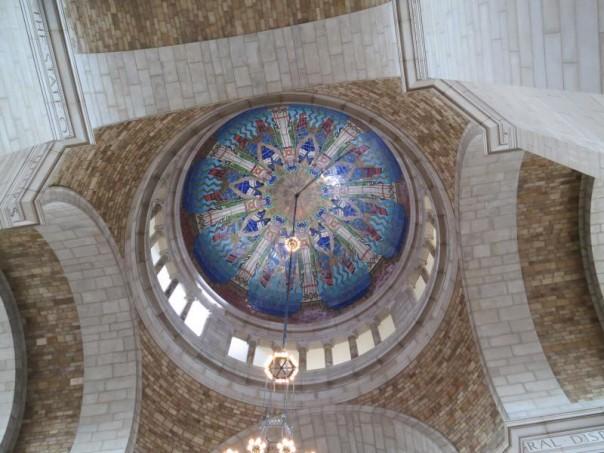 "The Rotunda dome portrays the ""Virtues,"" designed by mosaic muralist Hildreth Meiere. Photo courtesy of NET Nebraska."