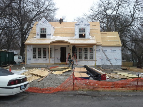 Home under construction, January 2014.  Photo courtesy of the Trenkle family.